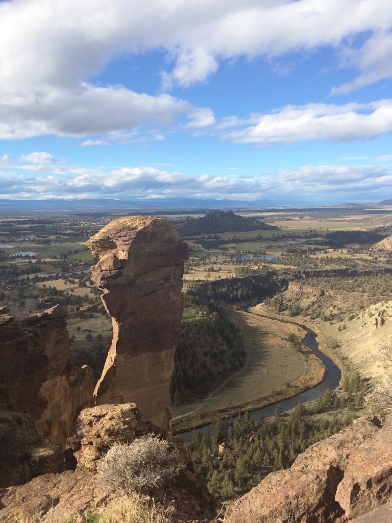Monkey Face from Misery Ridge Trail at Smith Rock