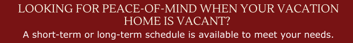 Get peace of mind with weekly home checks for your vacation home.