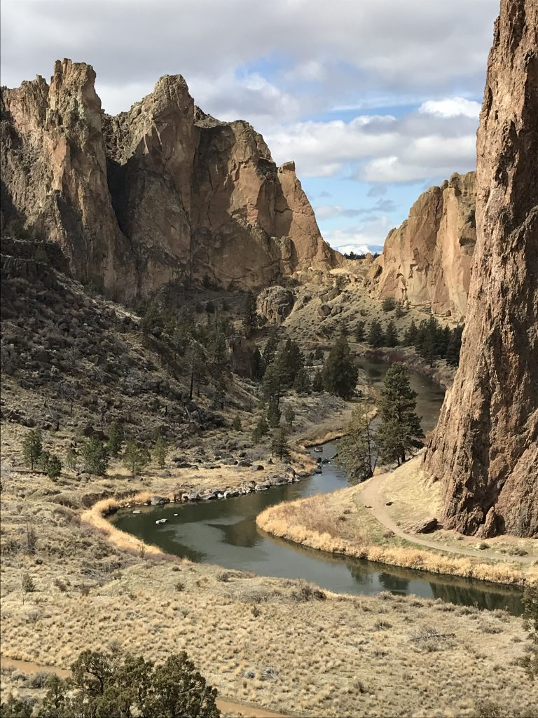 Smith Rock view with Crooked Creek