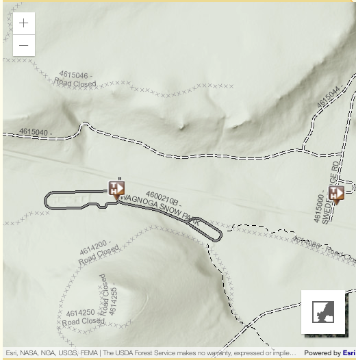 Wanoga sno-park trail map