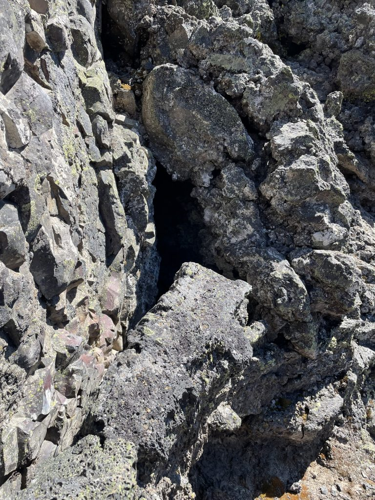 Lava Lands cool air crevice